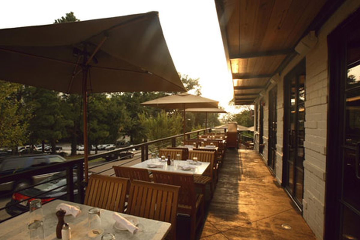"The dining room at <a href=""http://atlanta.eater.com/tags/ecco"">Ecco</a>. Photo courtesy of Facebook."