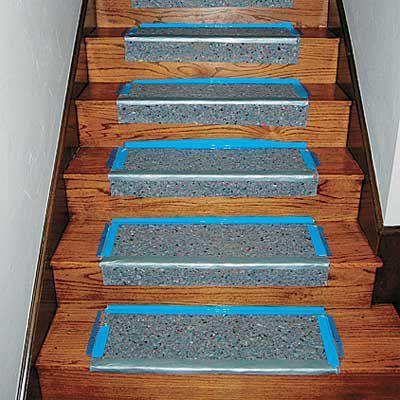 Double-Sided Carpet Tape On Padding For DIY Stair Runner