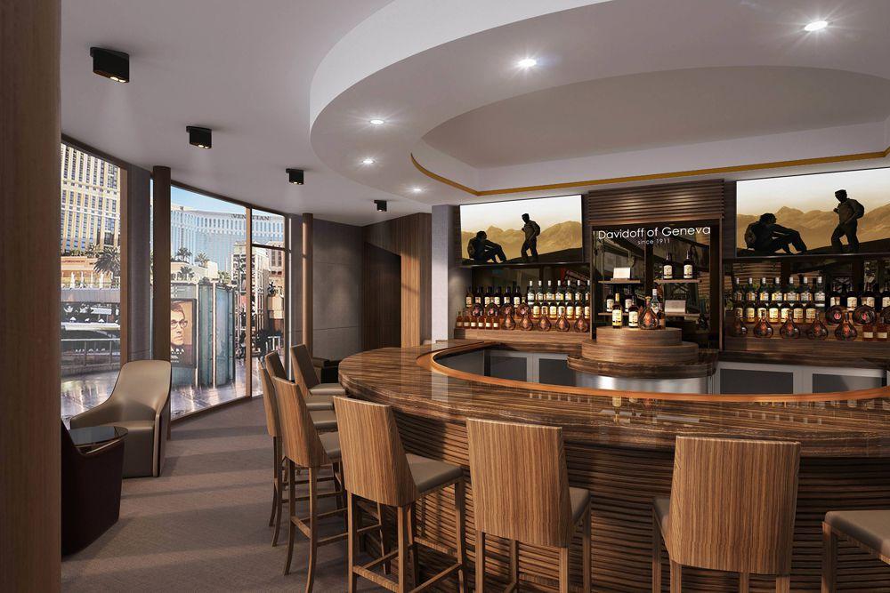 Davidoff Cigar Bar rendering