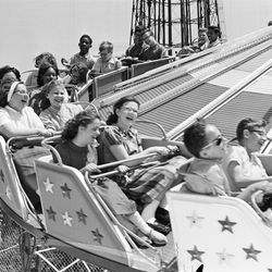 One of the rides at Riverview Park in 1964.   Sun-Times Archives