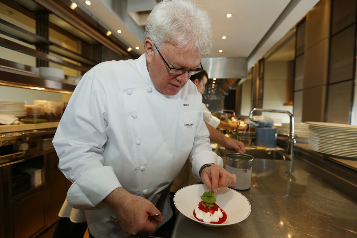 Chef Gray Kunz of Cafe Gray Deluxe, poses for a picture at Pacific Place in Admiralty.