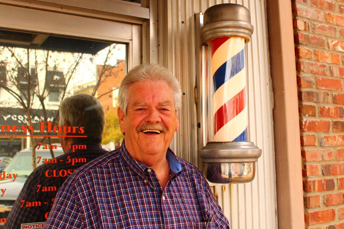 Bubba's been cutting hair in Auburn since 1969