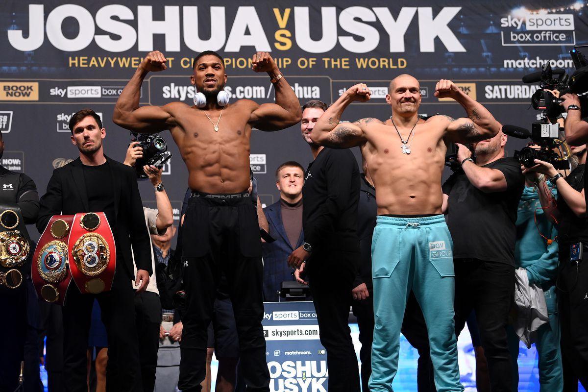 Anthony Joshua v Oleksandr Usyk Weigh In
