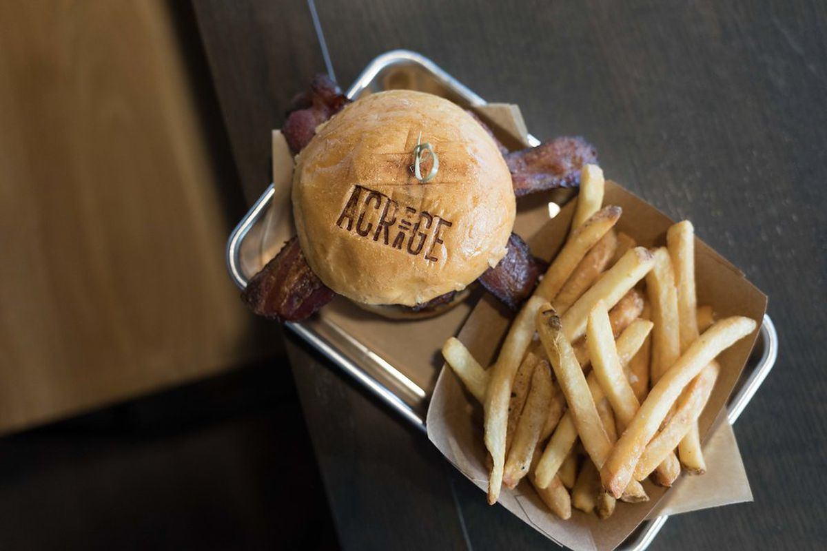 Wood Elevation Burger : Acreage brings cider and wood fired fare to a hilltop in