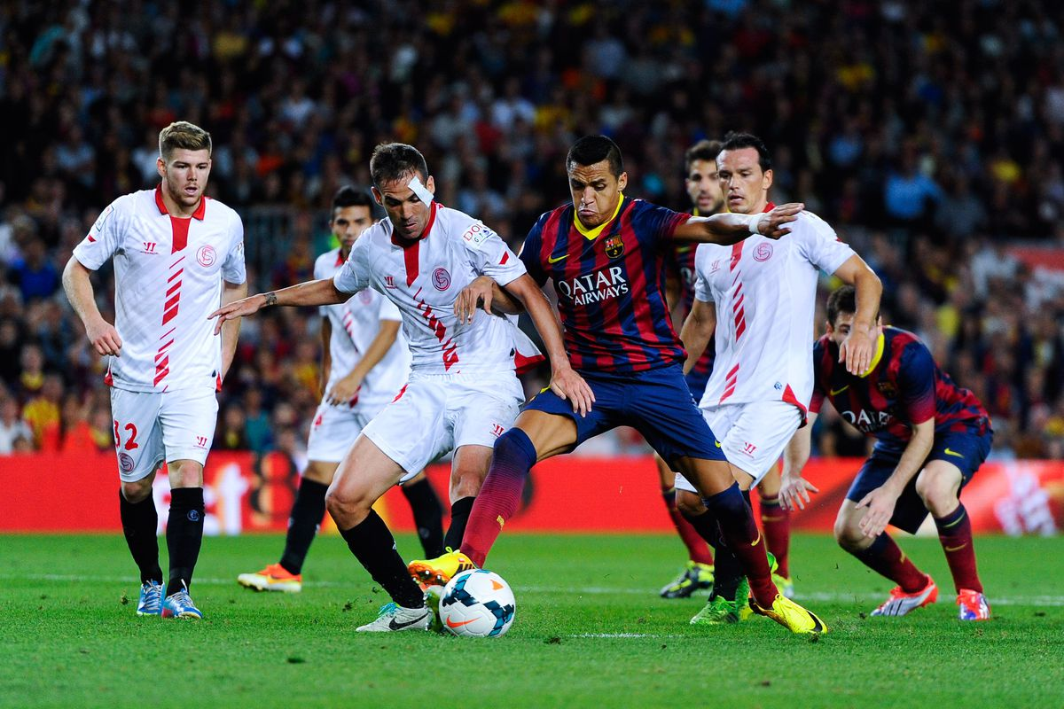 la liga  sevilla fc vs fc barcelona  full match coverage