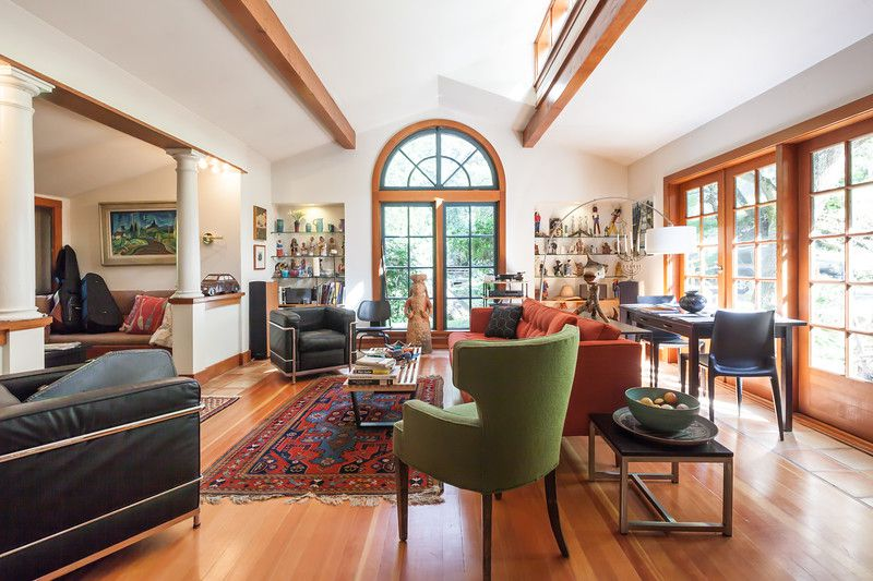 Joyce Maynard's Lafayette home uses many salvaged materials, included an arched window from an old schoolhouse.