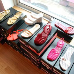 An assortment of very summery sandals, most $20.