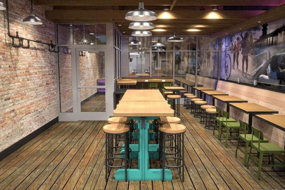 Rendering of Chicago's Taco Bell concept