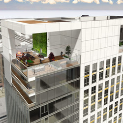 A rendering of the proposed Kensington Tower, a 448-foot skyscraper on the northwest corner of State Street and 200 South. If approved, it would become the tallest addition to Salt Lake City's skyline.