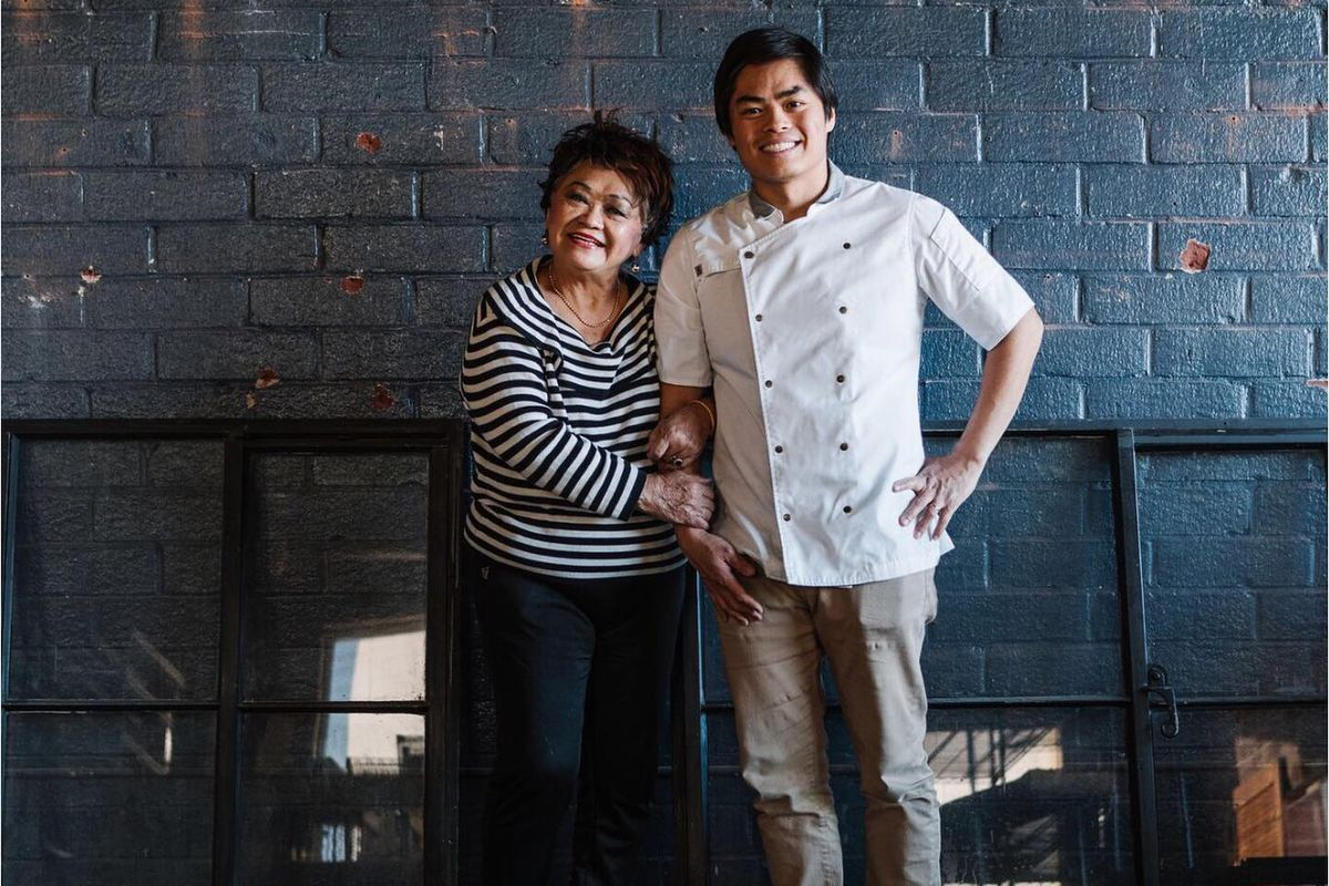 Betty Hsu and Lazy Betty chef and owner Ronald Hsu