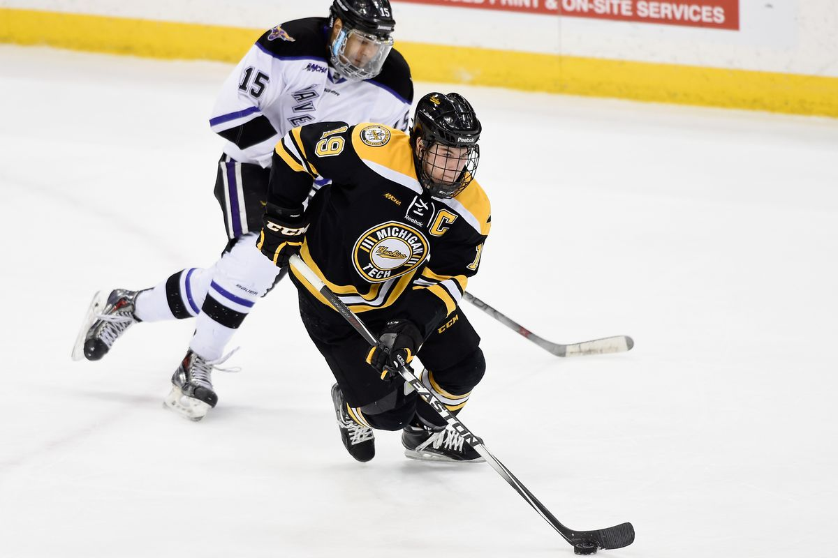 Blake Pietila has moved on from Michigan Tech and is enjoying life as an Albany Devil.