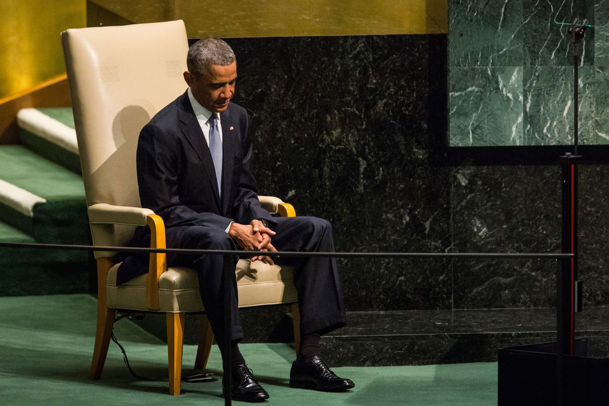 Obama at the UN on September 24.