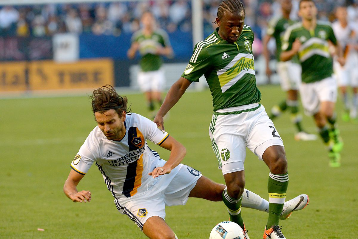 Diego Chara seemed to have an enjoyable evening knocking LA players to the turf.