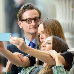 #selfie time. Hamish Bowles of Vogue, Stella McCartney and Sarah Jessica Parker.