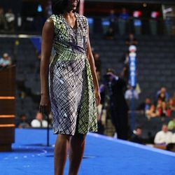 In <b>DVF</b> at Democratic National Convention in Charlotte, North Caroline on September 3, 2012