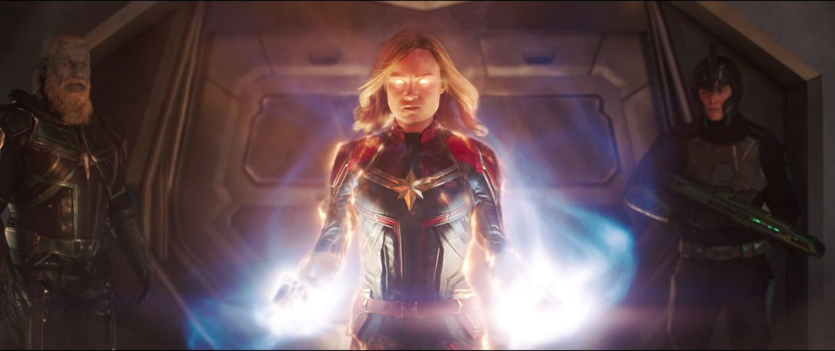 captain marvel powers up in her solo movie