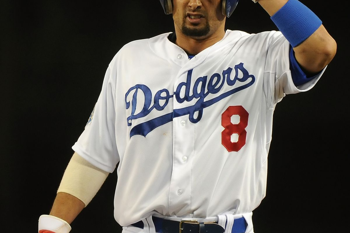 Victorino is still .gif-less for the Dodgers.  (Photo by Lisa Blumenfeld/Getty Images)