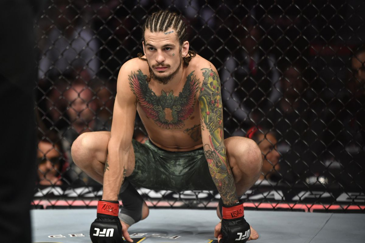 Sean O'Malley prepares to fight Jose Quinonez during the UFC 248 event at T-Mobile Arena on March 07, 2020 in Las Vegas, Nevada.