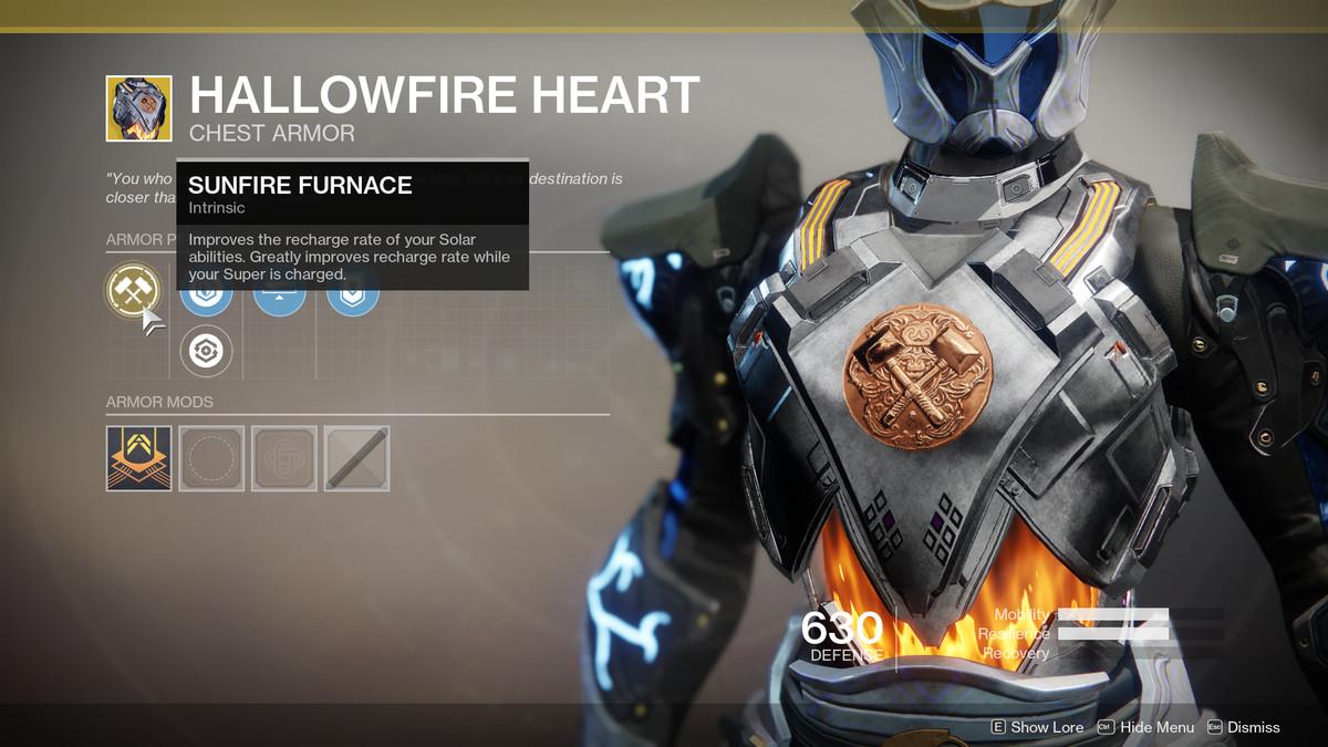 Hallowfire Heart Exotic Destiny 2