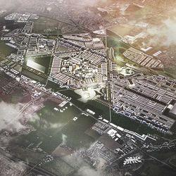 Rick Mather's Heathrow City aerial shot