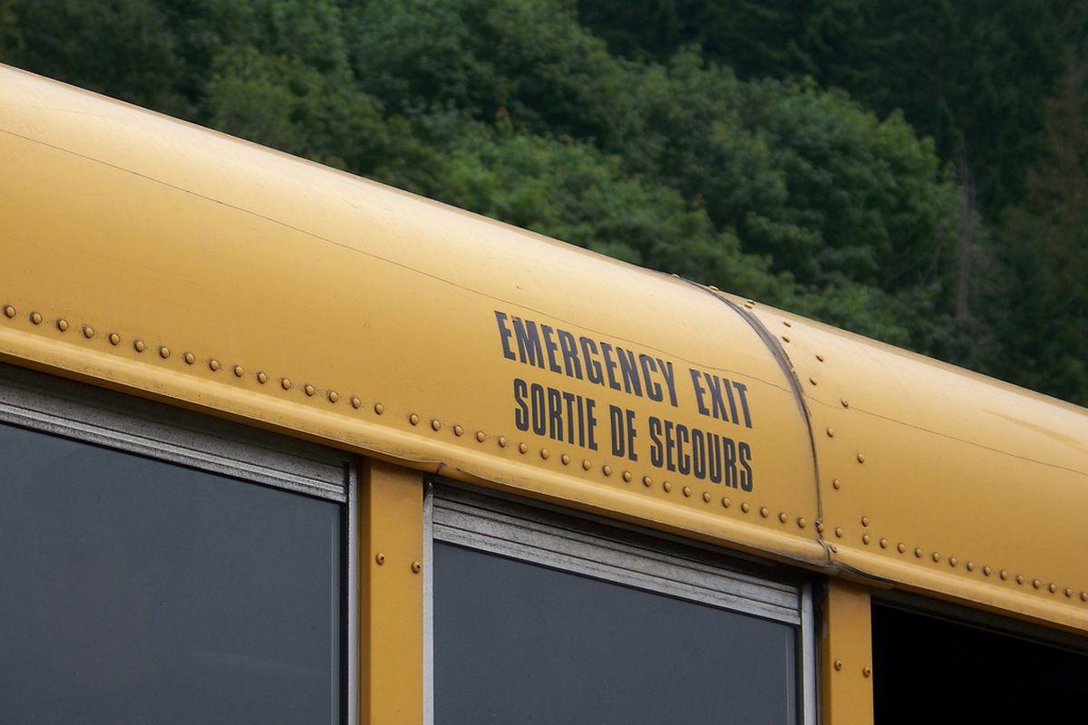 School bus emergency exit (Flickr)