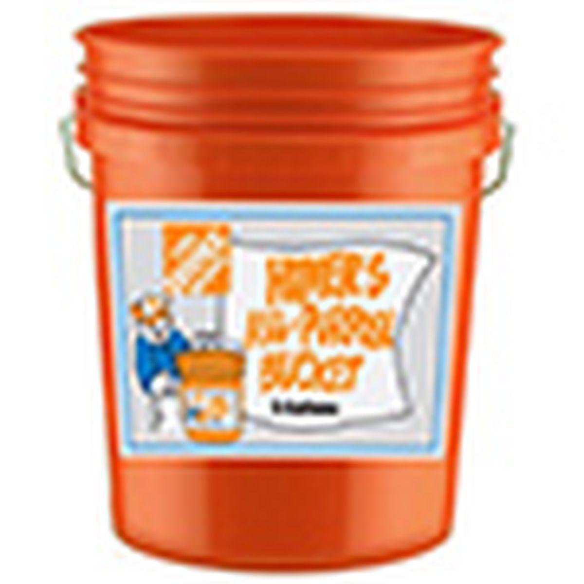 orange plastic bucket