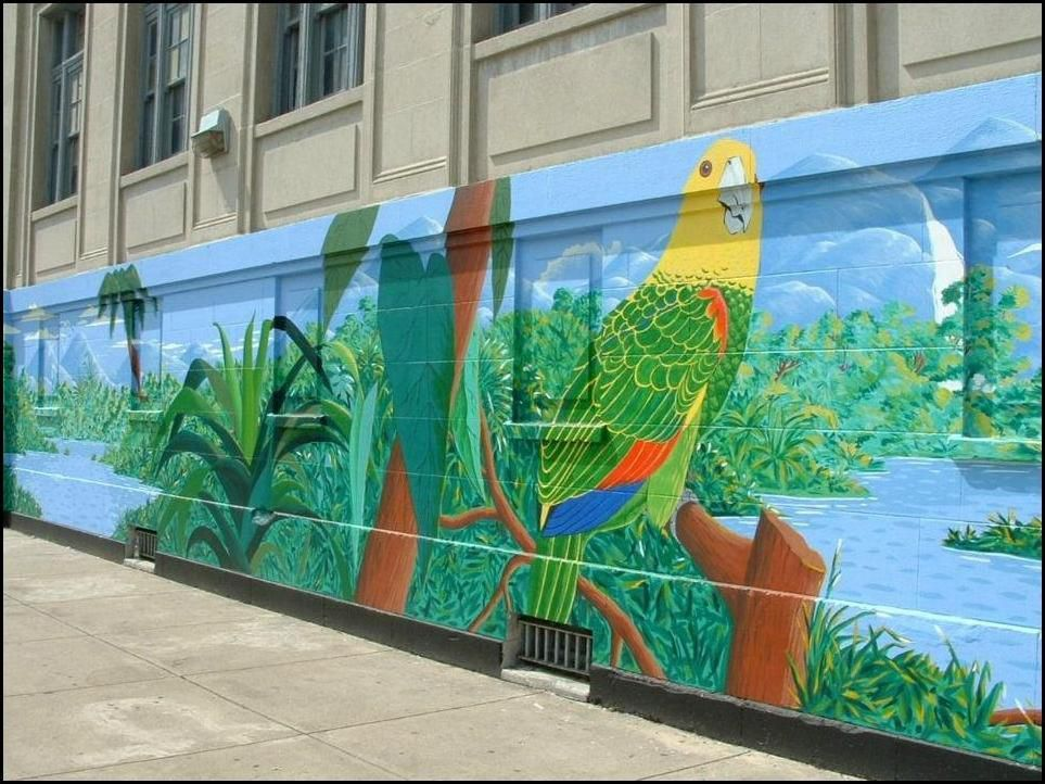 """""""Birds of Latin America"""" mural at Division and Rockwell. 