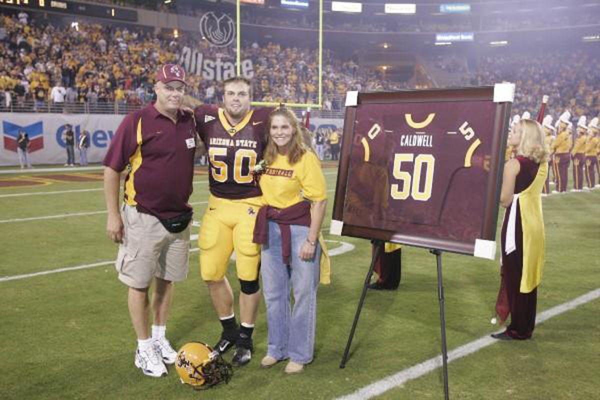 The Caldwells on Senior Night (Photo: The Caldwell Family)