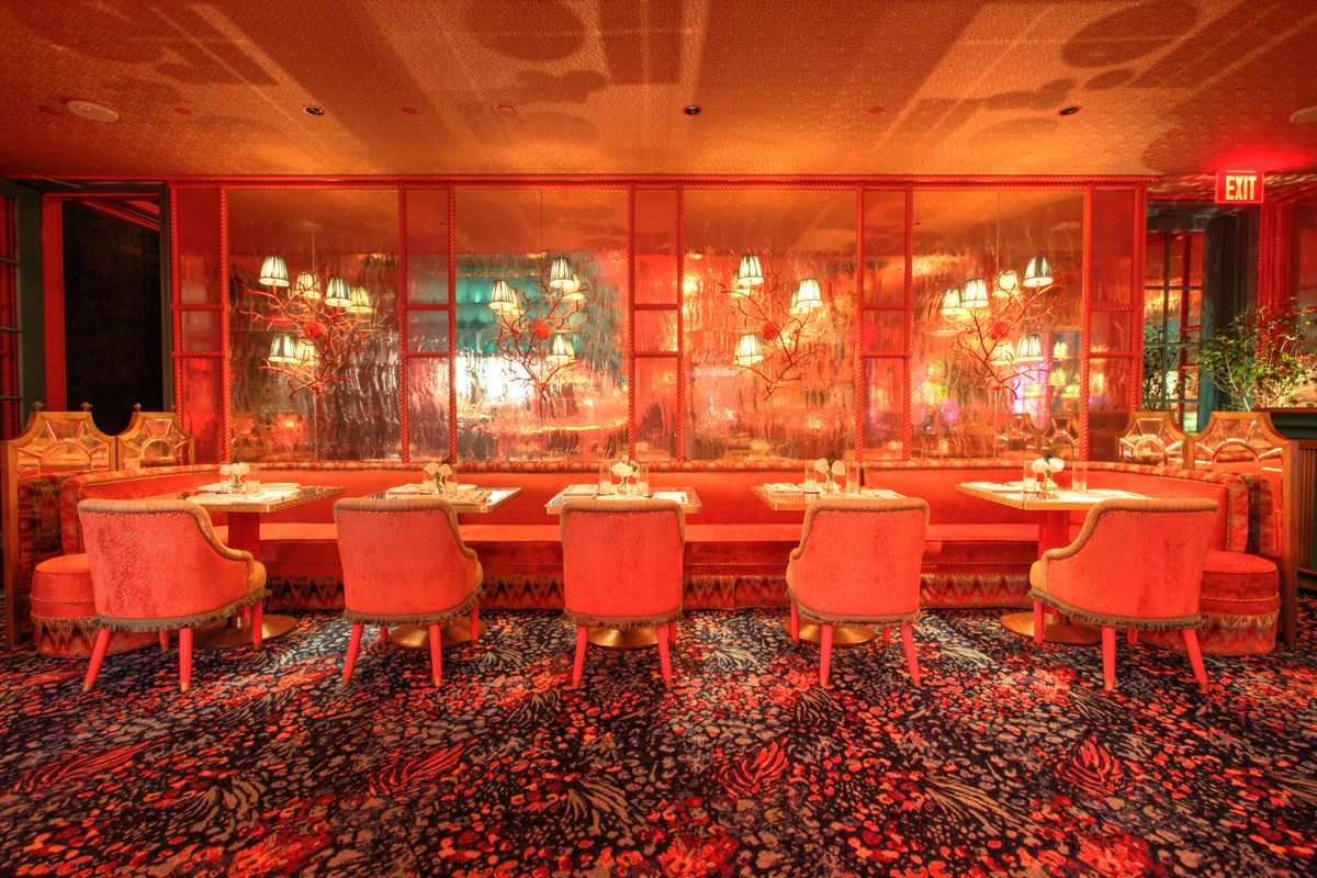 The front room dining room at The Mayfair Supper Club