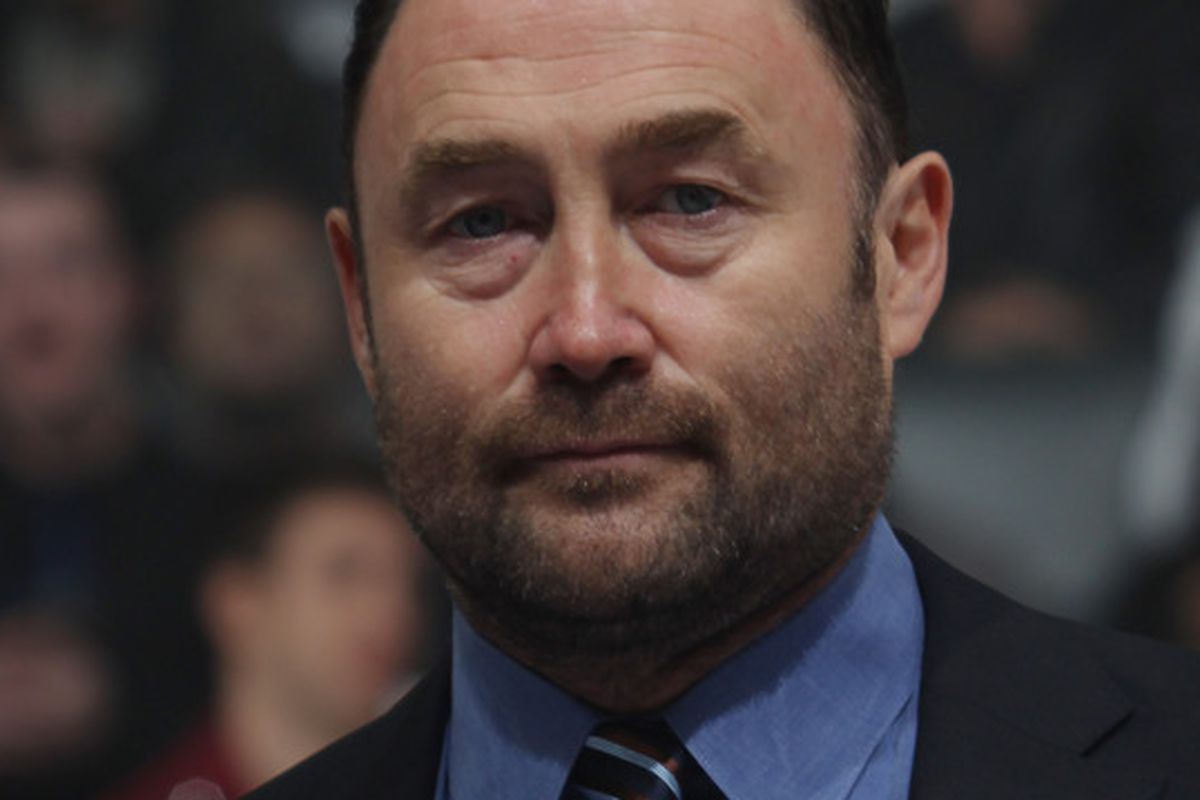 The Ed Belfour Facepalm (Photo by Bruce Bennett/Getty Images)