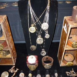 Rewind from Indio, CA.  Pieces made from old pocket watches from the 1800's.