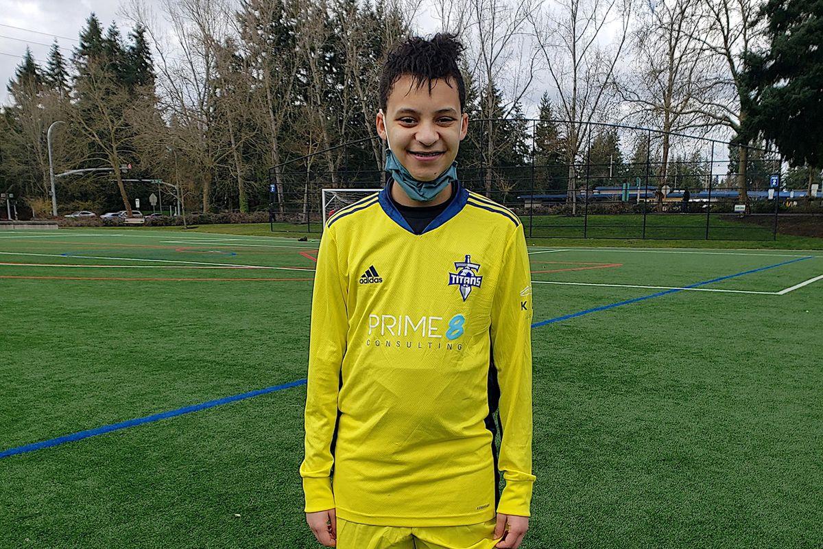 Trans soccer goalie Bobby Jones on his 14th birthday
