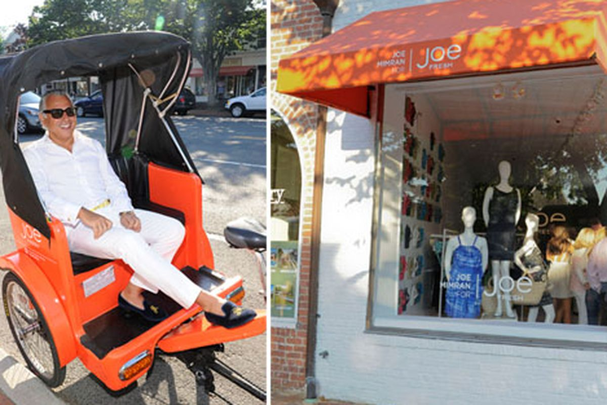 Joe Mimran, left, and the East Hampton store, right, via Getty Images