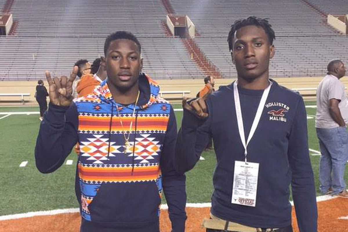 Kris Boyd (left) and Holton Hill on their official visit in January