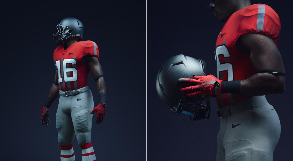 best cheap d5657 27d51 Ohio State's wearing 1916 throwback Nike uniforms and ...