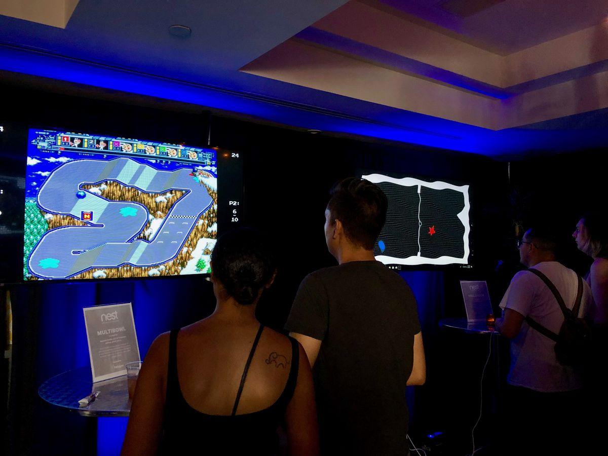 Multibowl and Volleygon at Polygon's SXSW 2018 arcade