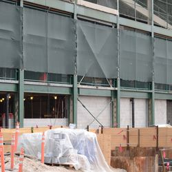 3:08 p.m. A view showing one of the open portions along the west side of the ballpark -