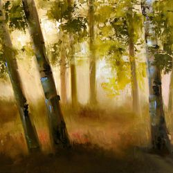 """""""Old Friends,"""" by Michelle Condrat, oil on canvas, currently on display at Alpine Art."""