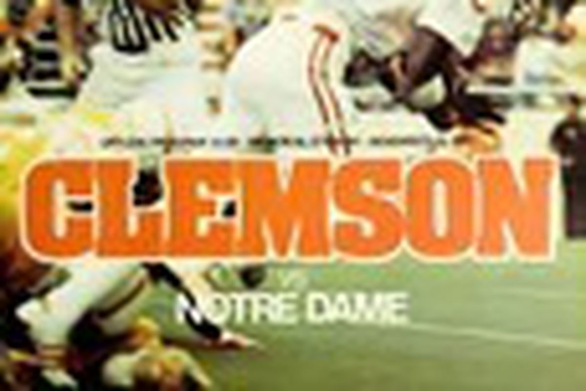 #15 Clemson played #5 Notre dame in 1977.