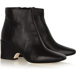 """<a href=""""http://www.theoutnet.com/product/240852"""">Calvin Klein Collection Isabella leather ankle boots</a>, $152  (were $760)"""