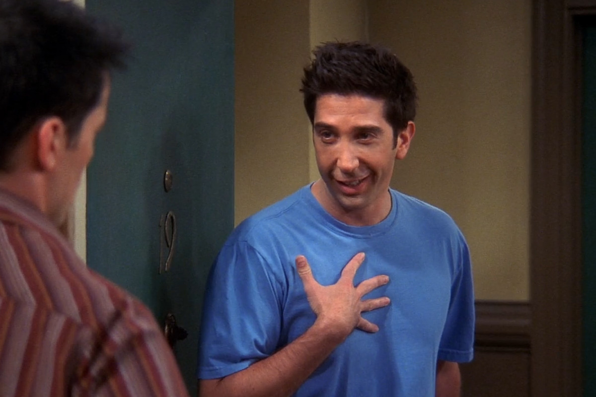 David Schwimmer and Matt Le Blanc in a scene from Friends