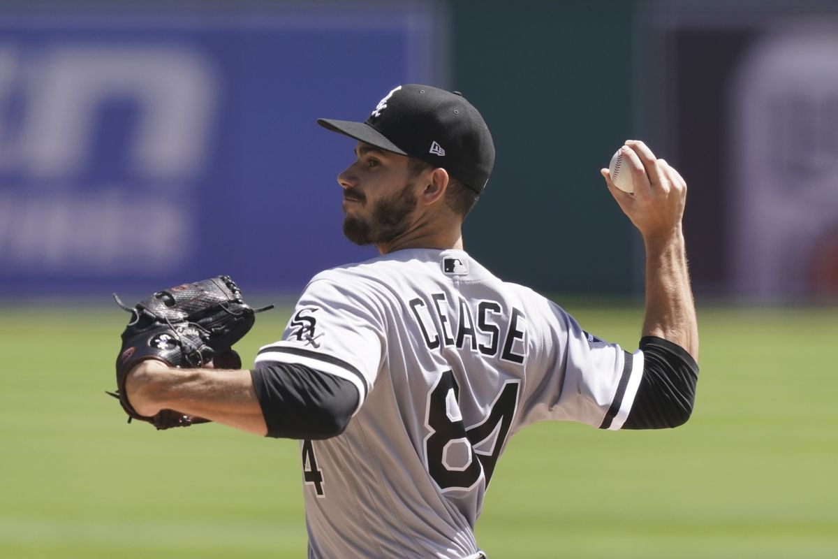 White Sox pitcher Dylan Cease throws during the first inning of Wednesday's game against the Tigers in Detroit.