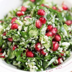 """Pomegranate Tabouli from Mezze Place by <a href=""""http://www.flickr.com/photos/bradleyhawks/8253481313/in/pool-eater/"""">Amuse * Bouche</a>"""