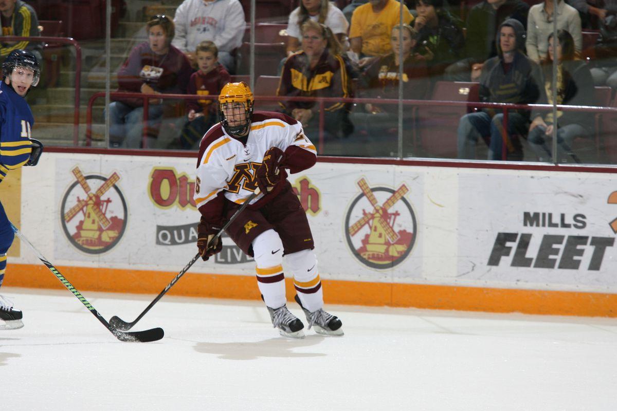 Gopher senior Christian Isackson was one of four Minnesota players to score Saturday