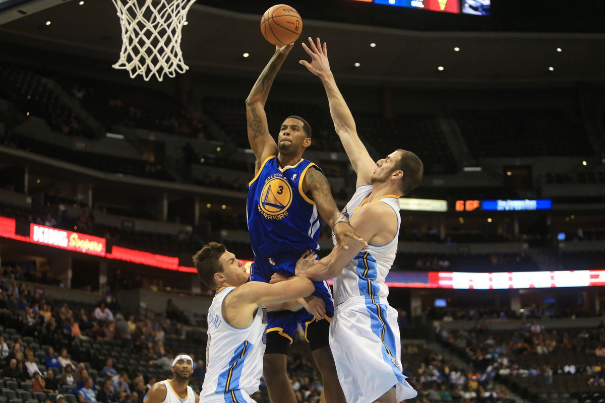 Jeremy Tyler with a monstrous offensive foul as a member of the Golden State Warriors.