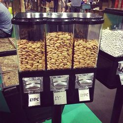 A healthy snack at Liberty. Why can't every fashion convention have almond dispensers?