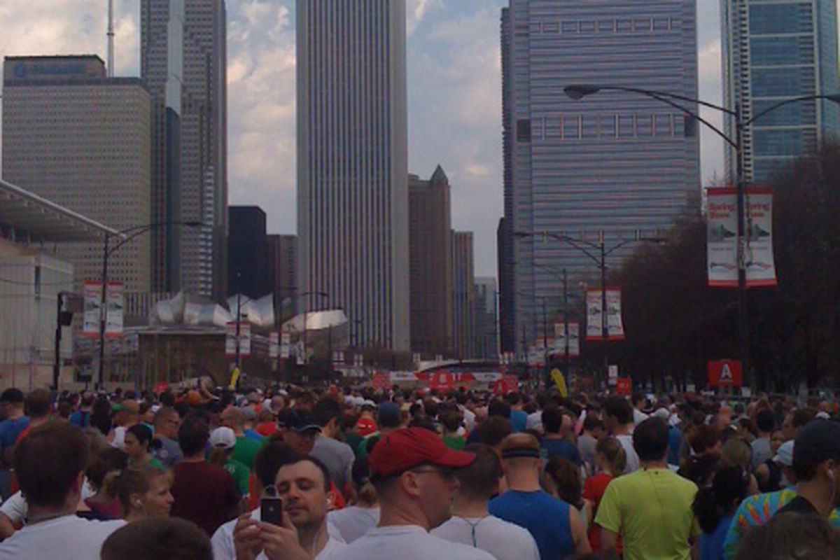 Runners at the 2011 Shamrock Shuffle. (Photo by Sue Land)