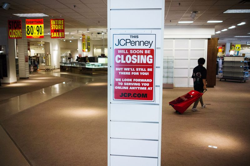 Shoppers view merchandise being sold at discount prices at a JCPenney in Bloomsburg, Pennsylvania, on July 24, 2017.