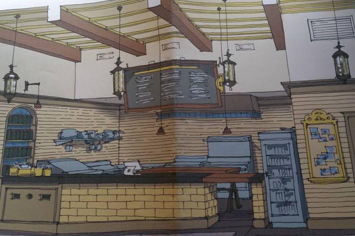 Villa Mexico Cafe rendering