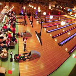 """<b>Bowling at <a href=""""http://www.northbowlphilly.com/"""">North Bowl</a></b><br> North Bowl keeps the party going with the tried and true combo of bowling, booze, music, and tater tots. You can rent lanes by the hour for $65, or splurge on the renting the"""